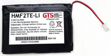 HMF2TE-Li - GTS® Akku für DATAMAX Etikettendrucker O`Neil microFlash MF2TE - 1880mAh